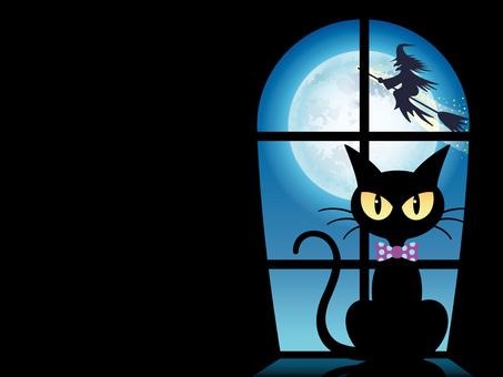 Halloween 4 by the window side Kuroneko