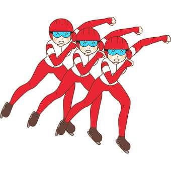 Team pursuit, player, illustration