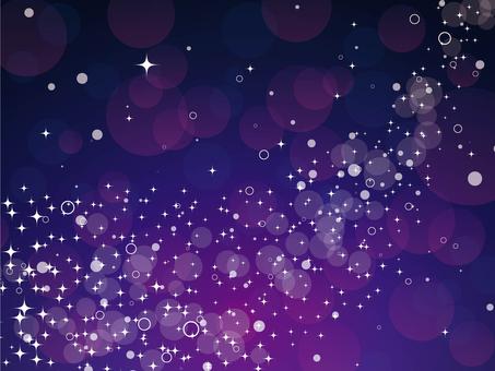 流れるキラキラ【紫】