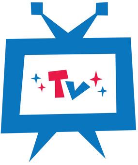 TV ☆ TV ☆ Screen · Monitor ☆ English letter logo
