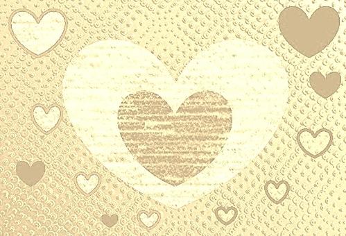 棕色米色☆爱心脏的心