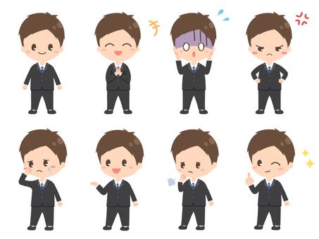 セット1/短ショート/スーツ/男性