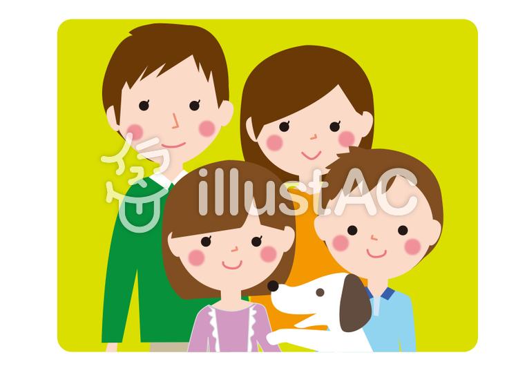 家族と犬イラスト No 1297818無料イラストならイラストac