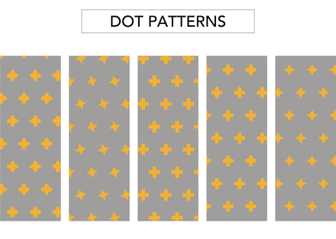 (Background transparent) flower dot pattern