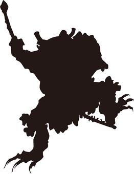 Ukiyo-e silhouette 345