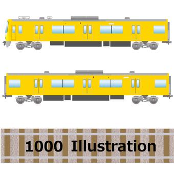 Series 1000 train Keihin express yellow