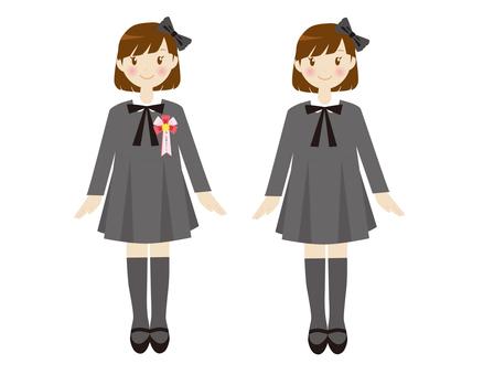 Formal girls Gray dress