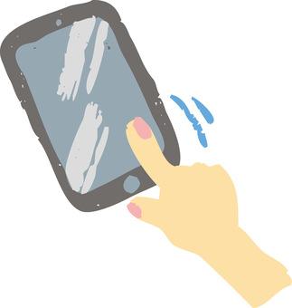 Smartphone and hand