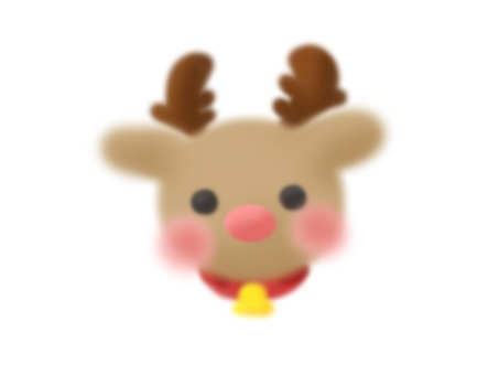 Reindeer's face (with cheeks)