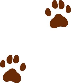 Dog footprints (alternating)