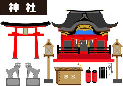 Shrine visit, Hatsumode (shrine, temple, torii)
