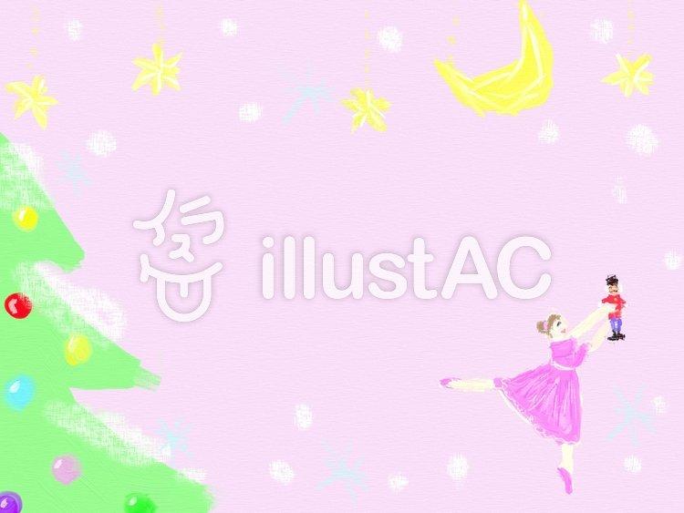 バレエのフレーム くるみ割り人形のイラスト