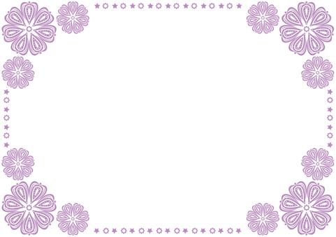 Frame - Star Flower - Purple