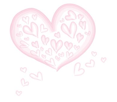 Watercolor painting heart full heart
