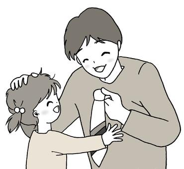 Necktie to your dad (monochrome)