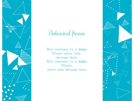 삼각 모양의 프레임 / 블루