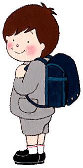 Boy with a school bag