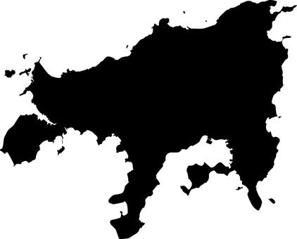 小豆島_剪影_黑色