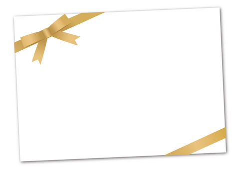 Message card <Gold Ribbon>