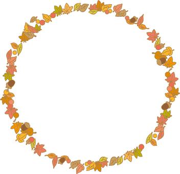 가을 잎과 열매의 프레임 엔