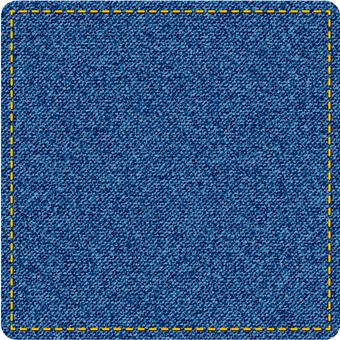 Denim-like square shape figure