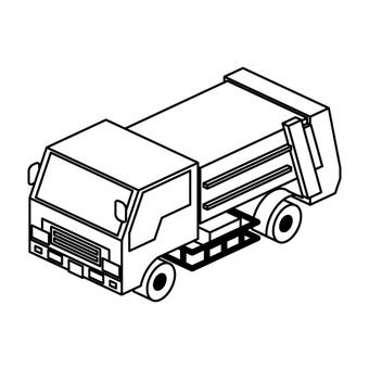 Garbage truck (monochrome)