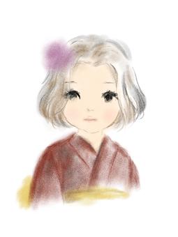 Kimono girl child