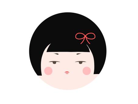 Round face Kokeshi