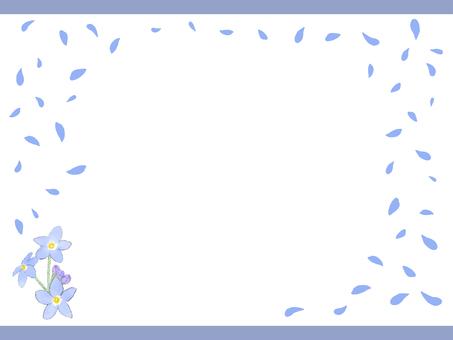 Spring flower background frame material 02