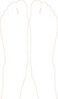 ai person's both-leg drawing