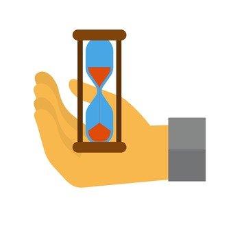 모래 시계와 손