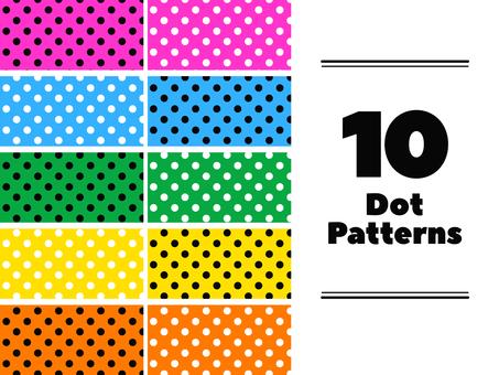 Polka dot pattern swatch set