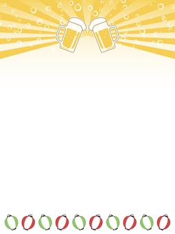 ビールジョッキのポップ4