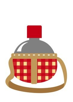 Water bottle · round (red)
