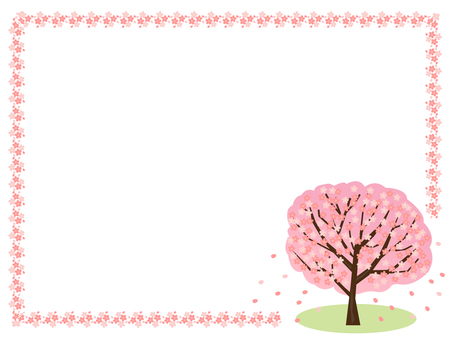 Cherry tree and flower frame