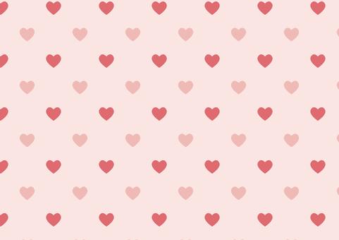 Heart pattern ◆ Pink