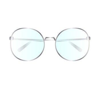 Glasses _ Silver metal