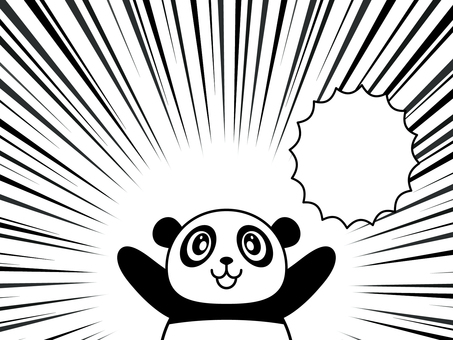 Stamp style - Panda 03