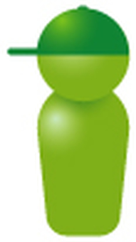 Simplified human-green (boy)
