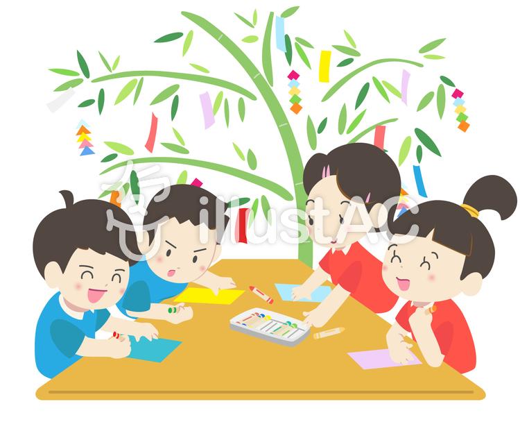 年中行事 - 七夕飾り2のイラスト