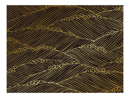 Japanese Pattern Golden Wave