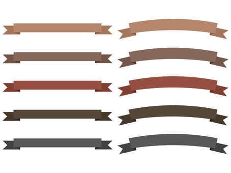 Ribbon assortment brown