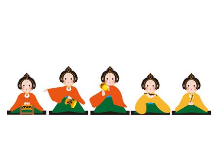 히나 마츠리 五人囃子