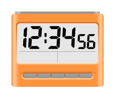 Digital alarm clock Orange