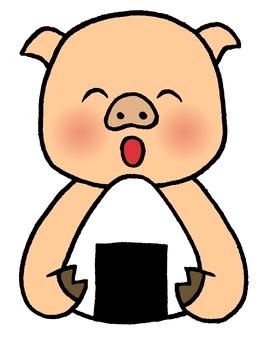 Pigs onigiri