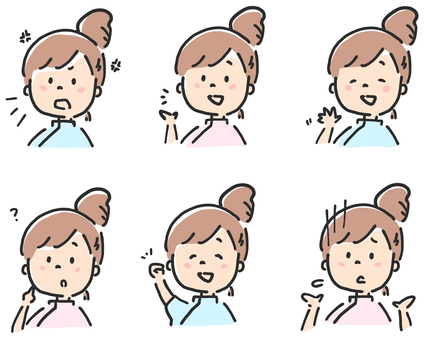 Women Medical Illustration Set