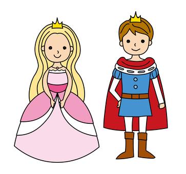 手描き 王子様とお姫様