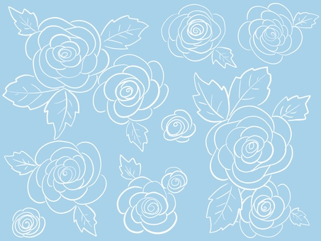 Light blue roses Wallpaper
