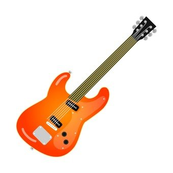 Electric guitar brown