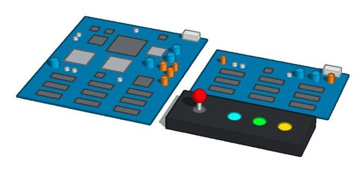 Arcade game board and controller
